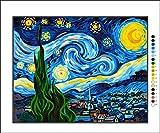 Krainer Kit Mezzo Punto Completo Notte Stellata di Van Gogh Mis 50x39 cod K70XL