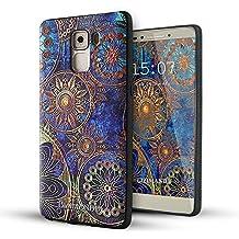 Huawei Honor 7 Funda,Lizimandu 3D Patrón Protectiva Carcasa de Silicona Gel TPU estrecha Case Cover Para huawei honor7(Flor Azul/Blue Flower)