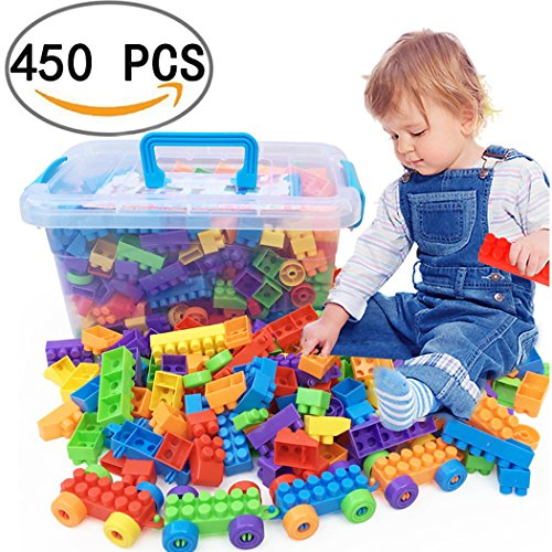 Kid Building Blocks DIY Toys 450 Piece , Early Educational Childhood Toys, A Lot Of Gameplay, Developing Early IQ For Kids , Educational Toys For Boys & Girls, Toddlers & Up