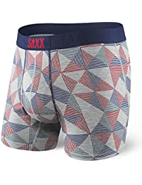 Saxx Men's Everyday Ultra Open Fly Boxer Brief Underwear Gray Pyramid Check