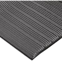 """NoTrax 410 PVC Airug Safety/Anti-Fatigue Floor Mat, for Dry Areas, 27"""" Width x 3' Length x 3/8"""" Thickness, Black by NoTrax"""