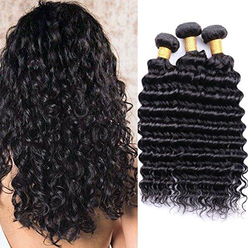 Meches Bresiliennes Lot 3 Tissage Bresilien Deep Wave Tissage Cheveux Humain Pas Cher Meches Bouclees Naturelle Tissage Remy Hair Ondulé Soldes Parfums 18 20 22 Inch