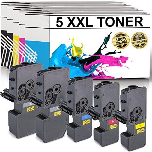 LABT Premium 5er Set Toner TK-5230 als Ersatz für Kyocera Ecosys M5521cdn, M5521cdw, P5021cdn, P5021cdw - mit Füllstandsanzeige | 40{a6d2098964fd4dece239465f4fdc9a915f92af16c23118d3e2615efcbb4d7423} Höhere Druckleistung als TK-5220