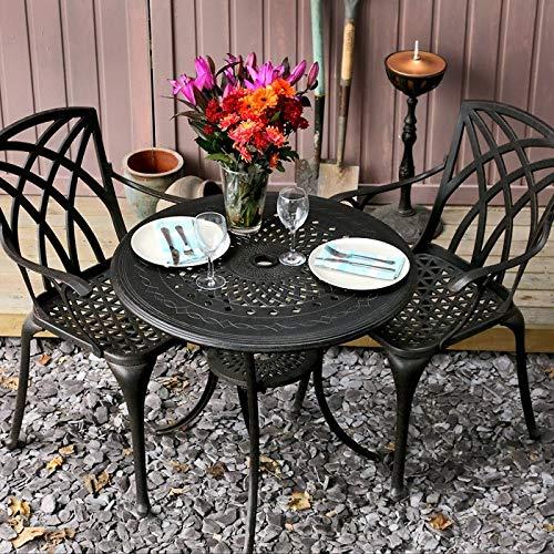 Lazy Susan - ANNA Gartentisch mit 2 Stühlen