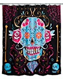 Duschvorhang CALAVERA SUGAR SKULL MEXIKO ROCKABILLY von Too Fast Brand