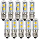 MENGS® Pack de 10 Bombilla lámpara LED 1 Watt E14, 7x 5050 SMD, Blanco Cálido 3000K, AC 220-240V
