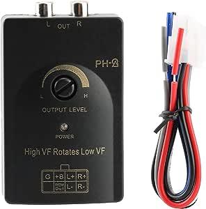 Ebtools High To Low Pegel Wandler Auto Car Ausgang Stereo Lautsprecher High Level Lautsprechersignal Für Low Level Adapter Mit Verzögerungsfunktion Auto