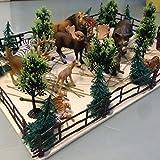 Neu 54 stk Für Schleich Farm Pferdestall Kuhstall Zäune Bäume Zubehör Pferd Paddock