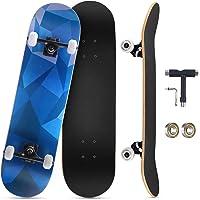 """KOVEBBLE Skateboard professionale standard completo 31""""x8 standard skateboard per bambini e adulti, principianti…"""