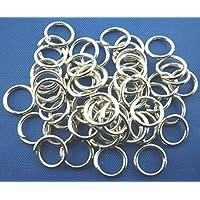 Bindering offen Ringe 7mm silberf. 50 St Biegering Spaltring Spiralring Ösen +Versand aus Deutschland+