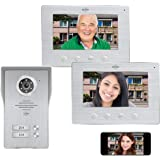 ELRO DV477IP2 Wifi IP Video Deur Intercom - 2 Appartementen - met 2x 7 inch kleurenscherm - Color Night Vision - Bekijken en