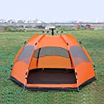 BLUECHARM [New] automatic tent/multiplayer/double storey/3-5 people/hexagonal big tent/outdoor/camping/rain/sun protection/ventilation