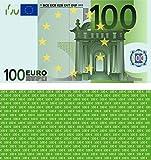 100 Stück Premium 100 Euro Spielgeld Format 109 x 60 mm Geld Banknoten Geldschein Money EUR Größe entspricht 75% des Originals der Eurobanknoten Deutschlands