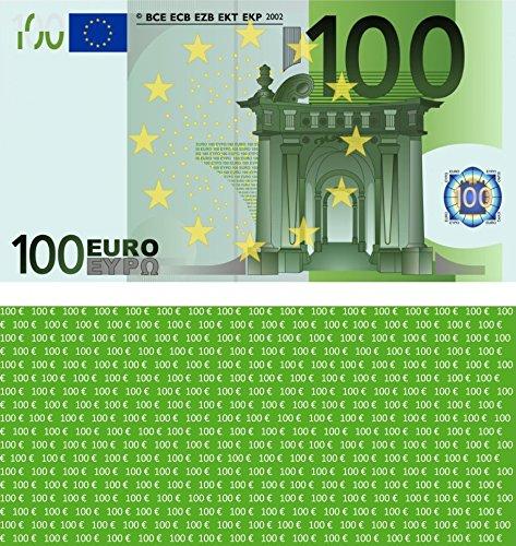 100 Stück Premium 100 Euro Spielgeld Format 109 x 60 mm Geld Banknoten Geldschein Money EUR Größe entspricht 75{90e780fe6c4524ef7f8ae90555e65beb205635b76029492b035ccc52d1a30b89} des Originals der Eurobanknoten Deutschlands