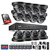 SANNCE 1080P 5-in-1 16CH CCTV Security Home System + 2TB Hard Drive Disk