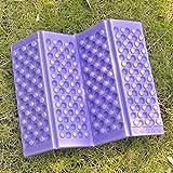 GGG Foldable Foam Waterproof Chair Cushion Seat Pads Moisture Seat Cushion XPE Mat Pad Garden Camp Picnic Travel Z-Seat - Color: Purple