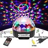 Discokugel,SOLMORE LED Partylicht Disco Lichteffekte mit Fernbedienung Discolicht Projektor Beleuchtung für Weihnachten Party Wohnzimmer Kinder Spielzeug Feier Halloween Karaoke Kindergeburtstag