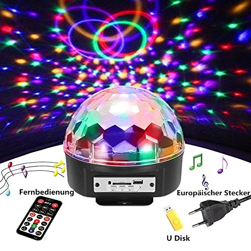 Discokugel,SOLMORE LED Discokugel Kinder Partylicht Disco ...