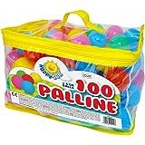 Sport1 100 Palline Morbide Colorate in plastica D6 cm