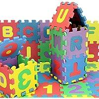 36 unids por conjunto Nueva EVA Kids Puzzle Mat estera del juego alfombra de espuma de bebé Kids Rug Carta digital estera de espuma de la educación respetuoso del medio 15.5 * 15.5 * 0.9 cm - Peluches y Puzzles precios baratos