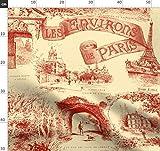 Paris, Französisch, Toile De Jouy, Gelb Stoffe -
