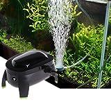 GUBENM Sauerstoff Luft Pumpe, Aquarium Fish Tank Luftsauerstoff Pumpe Kompressor einstellbar Silent AC 220-240V 3L/min