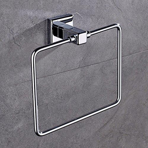 Auralum® Luxus Design 2 Jahre Garantie Hochwertig Rostfrei Edelstahl Handtuchring Matt Quadrat