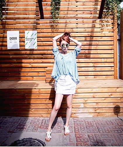 XJoel Frauen Casual Slim A Line Kurze Hosenträger Denim Bleistift Skirt Lätzchen Overall (Größe Erwachsene Plus Pudel Rock)