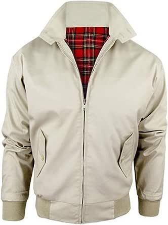 Style spot Vintage Adults Harrington Retro Classic Scooter 1970'S Tartan Lining Bomber MOD Skin Fashion Trendy Jacket TOP Coat