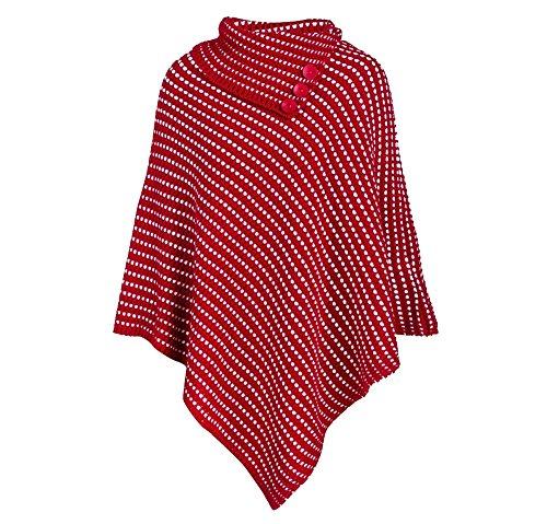 Divadames - Poncho - Senza maniche  -  donna Red/White