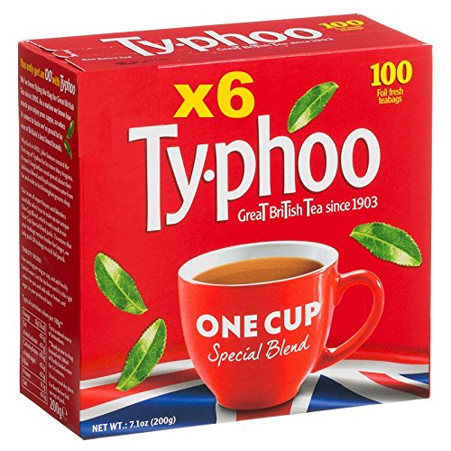 Typhoo One Cup 100 Round Teabags 200g x 6 Total 600 Tea bags