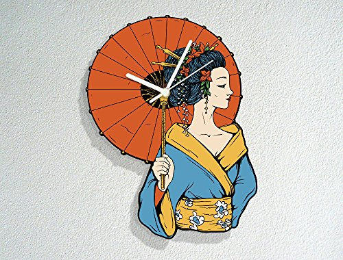 lla - Kimono - Make Up - Traditional Japanese Culture - Modern Novelty Gift - Custom Acrylic Wall Clock (Geisha Make Up Ideen)