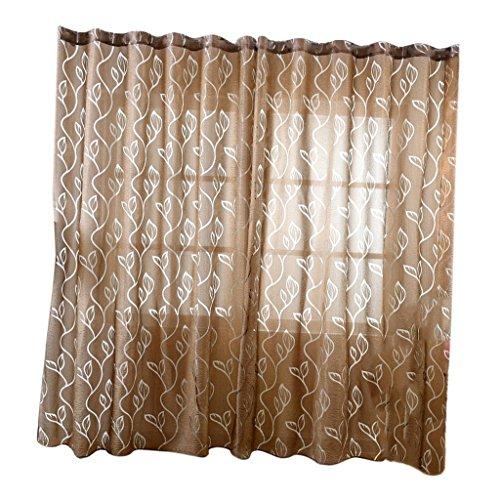 Homyl 100 * 270cm tende trasparente per bambini camera da letto soggiorno decorazione - caffè, 100 * 270cm