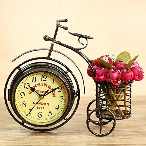 Originalidad La bicicleta Relojes, Estilo Retro Clásico Cuarzo Bell Cuadro Escritorio decoración Relojes
