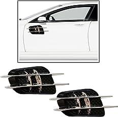 Vheelocityin 2 Spoke Chrome And Black Car Decorative Scoop Side Vent
