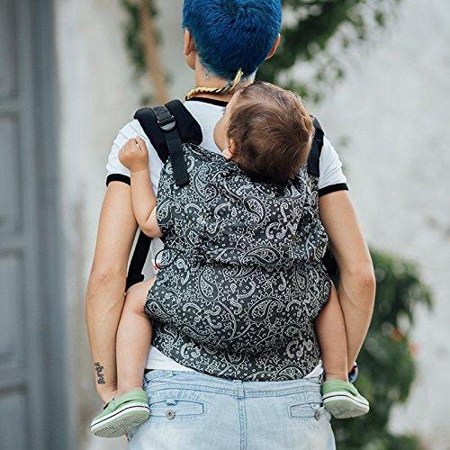 Marsupio ergonomico portabebè neonato Neko Slings (Toddler, Efes Paisley Hazel Dark)
