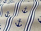 HomeBuy Marine Anker gestreift Print Stoff-Vorhang