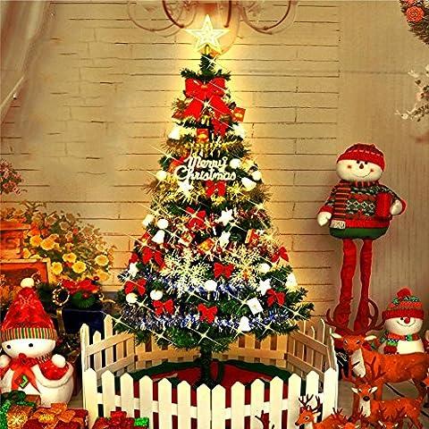 Künstlicher Weihnachtsbaum Kiefer 1,5 M Baum enthält dekorative und Lichter (Schuhkarton-geschenke Für Weihnachten)