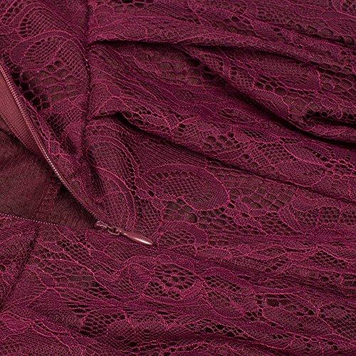 U-shot -  Vestito  - linea ad a - Maniche lunghe  - Donna #1 Burgundy