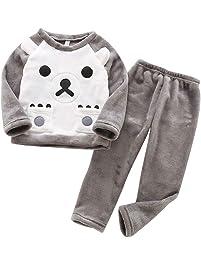 2 Pieza Pijamas De Animales para Niños Niñas Franela Halloween Terry Housecoat Bata Pijama