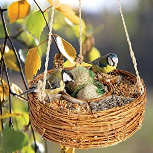 LUXURY BIRD SEED HANGING BASKET-Superb Mothers Day Gift Or Bird Care Gift For Mum,Mom,Her,Dad,Him,Her,Grandma,Grandad from Giftaplant