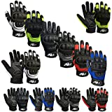 Prime - Guantes con Dedos Completos de Protección de Verano para Motocicleta, Deportes, Bicicleta de Montaña 9001 - Negro, Grande
