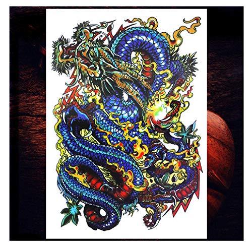 renliyong China Blue Dragon Männlich Kreative Aufkleber Dame Einweg Tattoo Sticker Wasserdicht Aufkleber, Kühlschrank Paste Spiegel - Kreative Männliche Kostüm