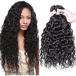 Extensiones de pelo virgen de Malasia de grado 8A, mechones de pelo humano húmedo y ondulado, 100% natural, ondas naturales, pack de 3