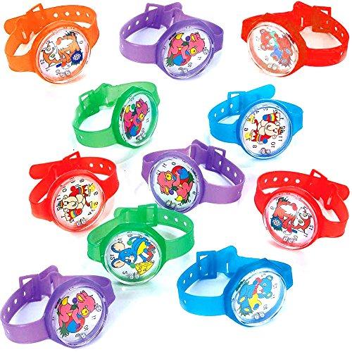 German Trendseller 12 x Armbanduhr Mitgebsel - Kinder Mix ┃ Geduldspiel┃ Kindergeburtstags Mix ┃ 12 Stück