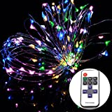 OMGAI®10M 100LEDs Starry String Lights with Power Adapter RF Remote Control for Indoor Patio Garden Bedroom Cafe and More MultiColour