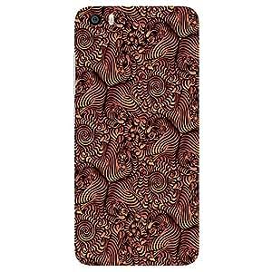 Beautiful Brown Design - Mobile Back Case Cover For Xiaomi Mi 5