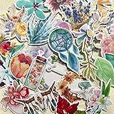 Navy Peony Navy Peony Garten der Traumfänger Aufkleber und Blumenaufkleber | Boho Aufkleber für Wasserflaschen Laptop Tagebuch und Sammelalbum | wasserdicht | Aufkleber Set für Kinder und Erwachsene | 37 Stück
