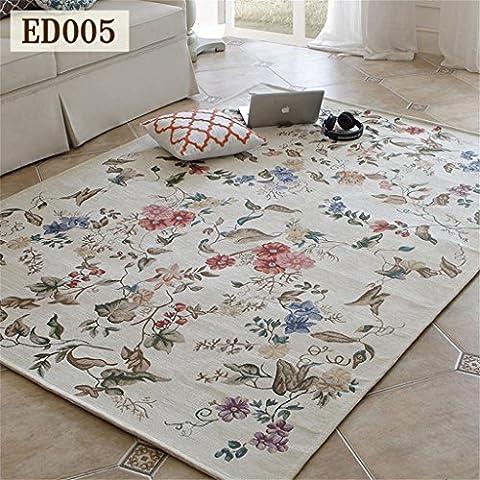 Flash American Carpet Living room coffee table mat Rural Pastoral Mediterranean Bedside Continental Bedroom carpet