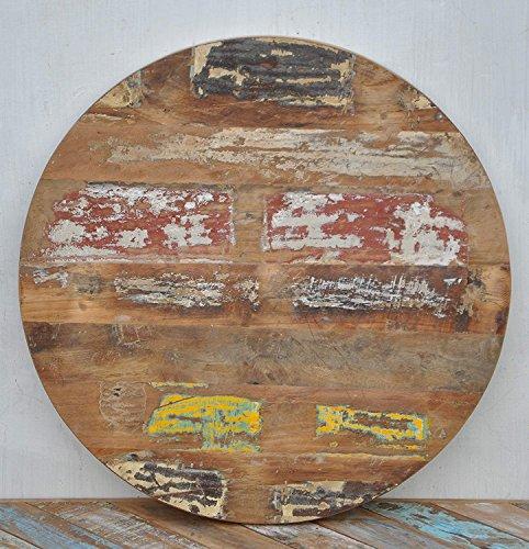 Rond massif rustique en bois recyclé Dessus de table à café Restaurant Furntiure